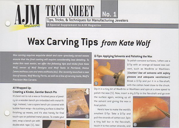 Kate Wolf Wax Carving Tips