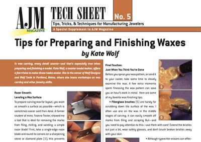 Tips for Preparing and Finishing Waxes